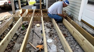 New solid joists placed over the remaining steps; other joists repaired.